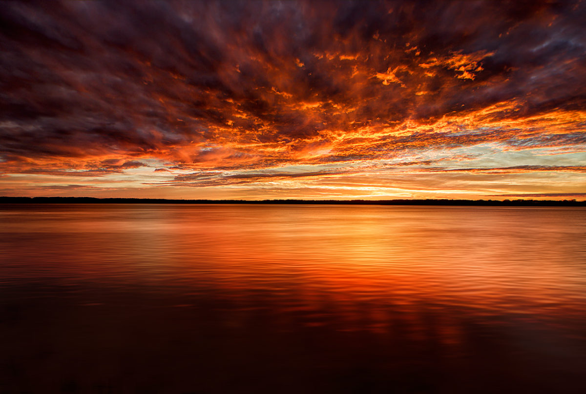 Fire in the Sky, Wilmington River Savannah